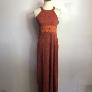 Prank sky orange maxi dress small